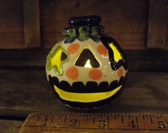 Country Clay Pumpkin Luminary