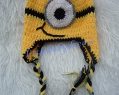 Baby Boy Crochet Despicable Me Outfit. Minion Costume. Infant Halloween Costumes Baby EL116