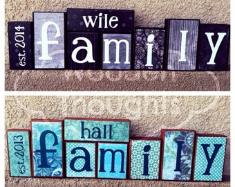 Family blocks - est. year, last name, FAMILY
