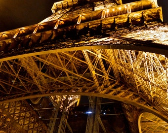 Lit Up Eiffel Tower Photograph | Pack of Notecards or Postcards
