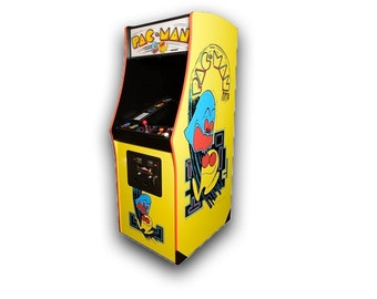 Pac-Man Arcade Game: Vintage 1980 unit refurbished with authentic arcade components!