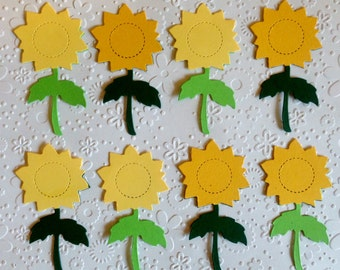 10 assembled Large Sunflower Die cuts for cards/toppers cardmaking scrapbooking paper craft project