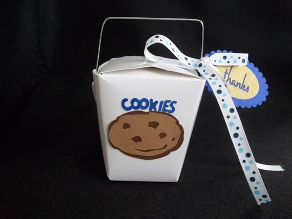 Party Favor Chinese Take Out Boxes : Chocolate chip cookie chinese take out favor boxes