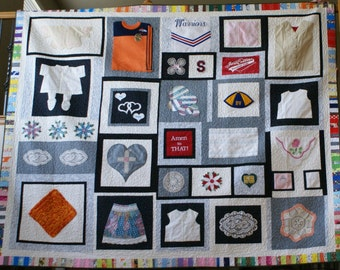 Custom Quilt, Heirloom Quilt, Memory Quilt, Family Quilt, Unique Quilt, Memorial Quilt