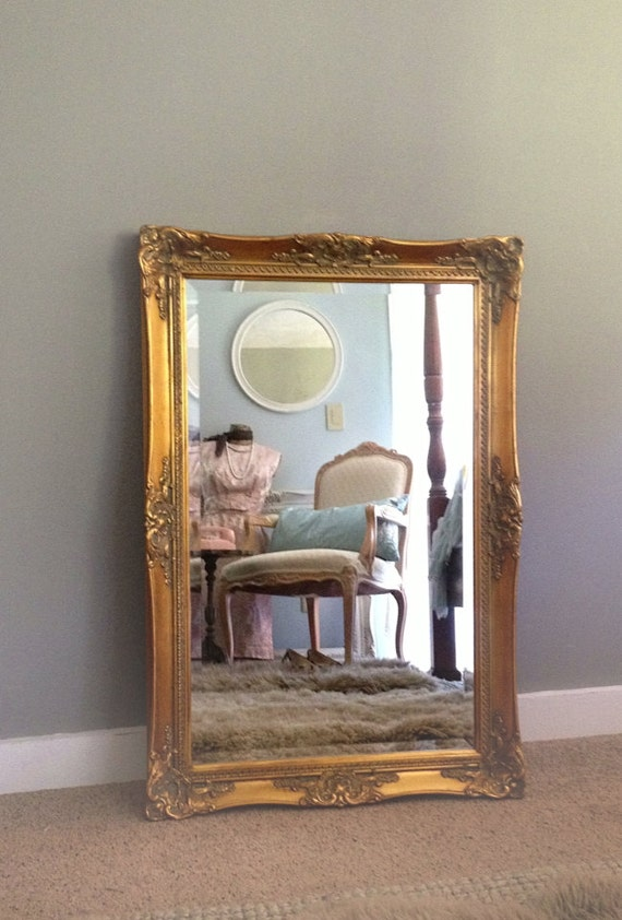 Large Wall Mirror Gold Ornate Bathroom Living Room Wall