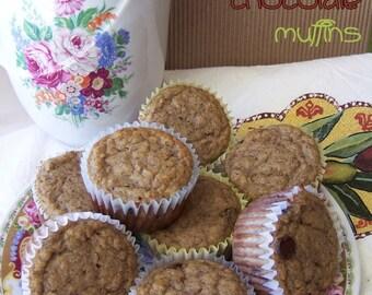 BEST GLUTEN FREE Banana & Chocolate Muffins - 1dz