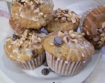 GLUTEN FREE Banana, Chocolate & Nut Muffins - 1dz