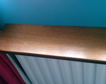 Dark Oak Veneered Radiator shelf Made To Order