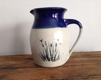 Blue Ceramic Jug