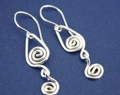 Sterling Silver Wire Wrapped Earrings      PTJ113A