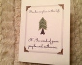Pine: Wood of Poor People and Outhouses (New Girl-inspired), 4.25x5.5 quarter-fold greeting card, printable, digital