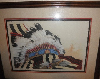 Native American Indian Print by Barbara Growe Signed and Numbered