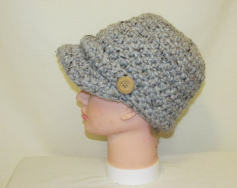 Crochet News Boy hat for women