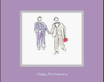 Gay Anniversary Card