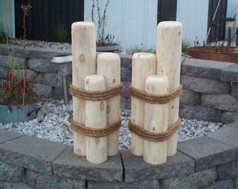 Pilings piers lawn or dock ornaments nautical cedar garden decor