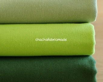 Solid Fabric Cotton Canvas Fabric Sofa Chair Cushion Curtain Home Decor Fabric Upholstery Fabric Apple Green Dark Green Fabric-1/2 Yard