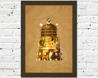 0085 Dr Who Dalek A3 / A4 Wall Art Print