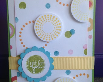 Just For You with Circles Card