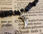 SALE! Blue Goldstone Glittering Dagger Necklace Choker