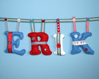 Personalised felt letters