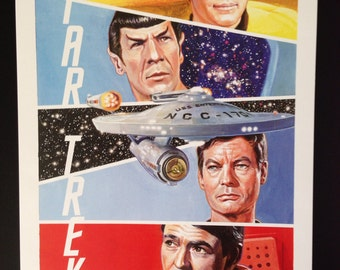 Star Trek 11x17 print by Scott West