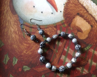 Stars and moons bracelet and earrings set