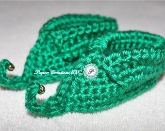 Crochet Elf Shoes Pattern