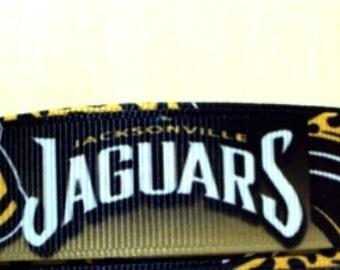"5 Yards of Jacksonville Jaguars grosgrain Ribbon 7/8"""