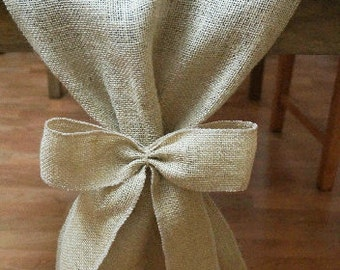 Burlap Table Runner, Plain with Burlap Bows, Rustic Wedding, Wedding Table Runner, Party Decoration, Custom Length Available
