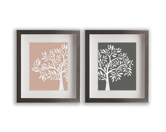 Set of Two Olive Tree Art Prints - home decor, dining room, living room, art print, wedding gift idea, natural colors, kitchen decor