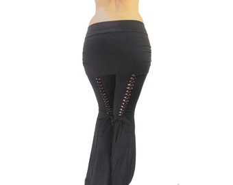 Tribal Belly Dance Pants with Braided Detail on the Back (Nancy Pants) CUSTOM MADE