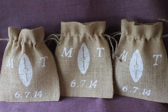 Small Personalised Wedding Gift Bags : wedding favor bags. Beach wedding 5 7 burlap surfboard bags. Small ...