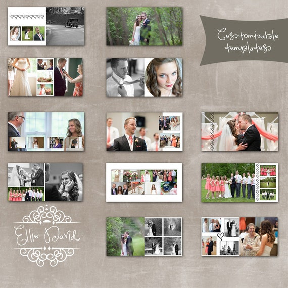 Photo Album Examples: Items Similar To 10x10 Wedding Album Photoshop Template