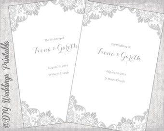 Catholic wedding program template | Etsy