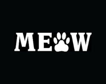 Meow Cat Decal - Free Shipping US only