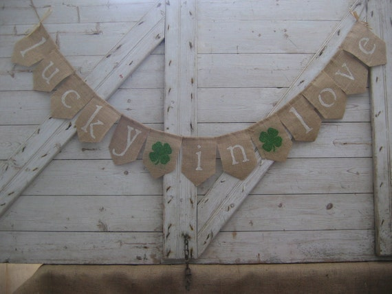 irish wedding decorations lucky in banner lucky in bunting by 5172
