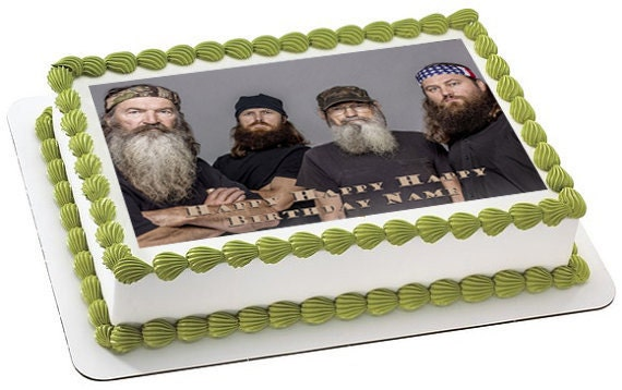 Custom Cake Images Edible : Items similar to Duck Dynasty Personalized edible image ...