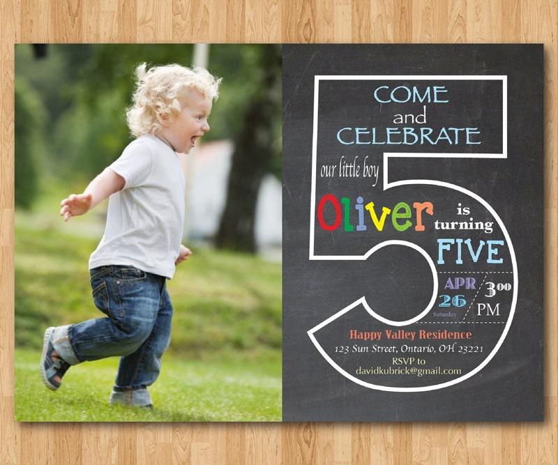 5th birthday – 5th Birthday Party Invitation