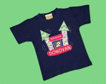Bounce House Shirt with Number and Embroidered Name