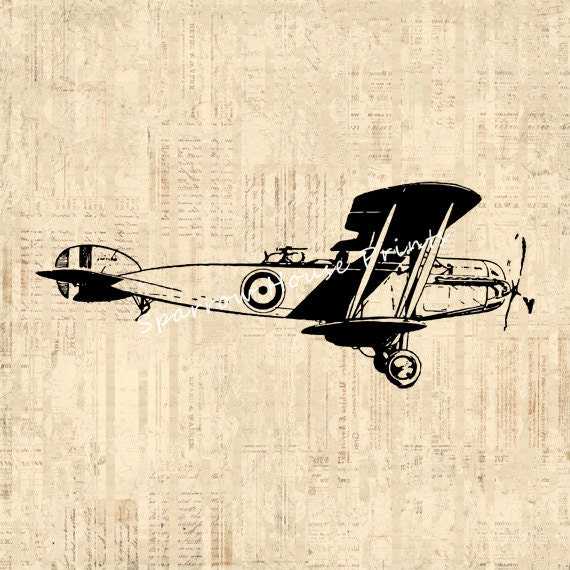 Vintage Plane Wall Decor : Airplane print vintage wall art plane home decor antique