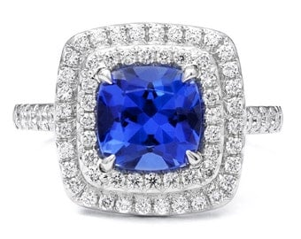 Double Halo (Soleste) style ring