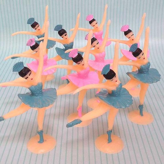 12 Ballerina Cake Toppers Ballet Dancer Cupcake by ...