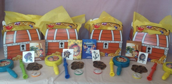 Lot of 4 Jake & the Neverland Pirate Party Favor Ensembles
