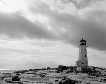 peggy's cove in the winter