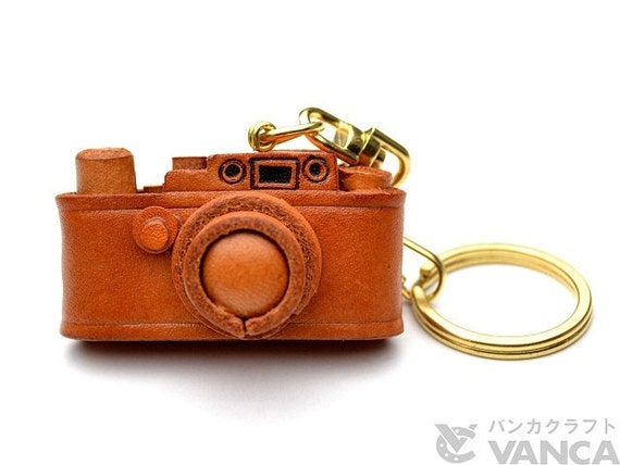 Leica Camera 3D Leather Keychain(L) *VANCA* Made in Japan #56801