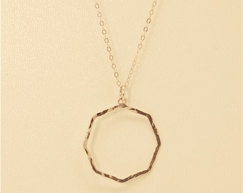 loading pendant octagon zoom jyoti gold necklace