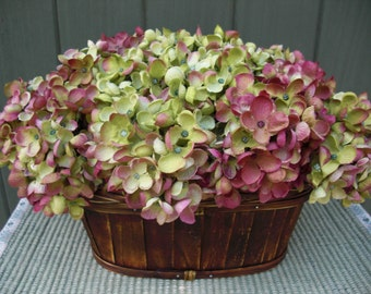Silk Hydrangea Basket