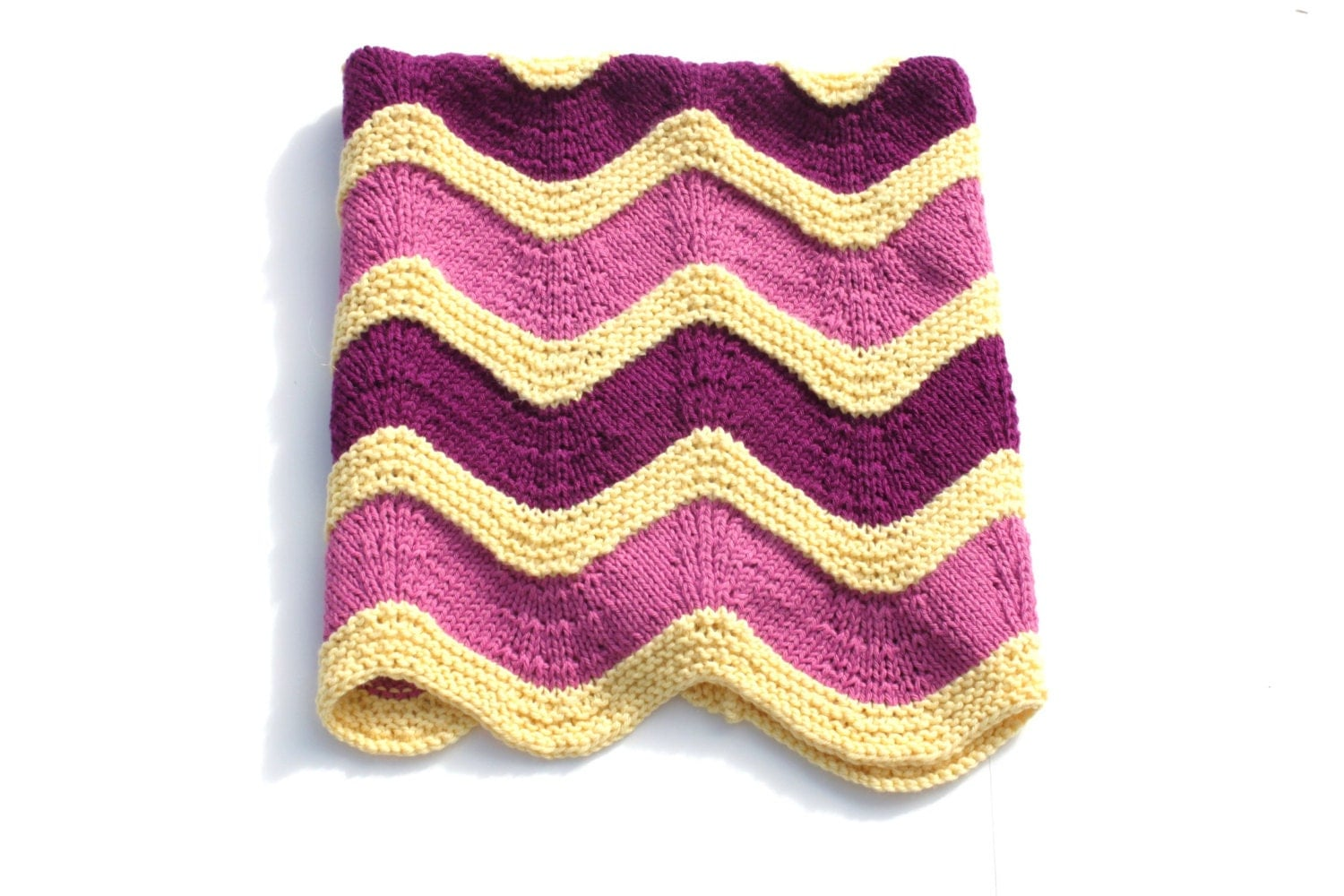 Knit Baby Blanket Wave Pattern : Zoom Baby Blanket Pattern knit baby blanket pattern using