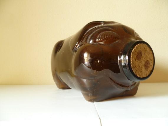 Vintage This Little Piggy Went Market 5 Gallon Libbey Piggy