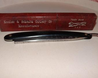 Vintage Straight Razor, Fox Cutlery Co.